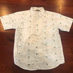 Boys size 14 button down short sleeve youth shirt